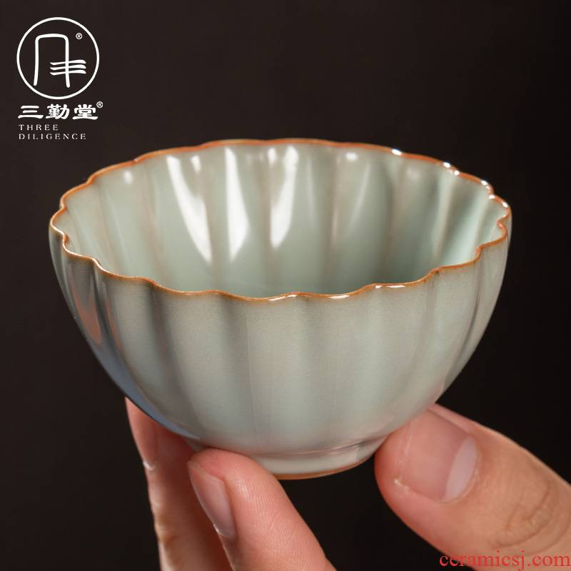 Three frequently puer tea cup tang secret # porcelain cup of jingdezhen ceramic masters cup pure big yards tea S44105 by hand