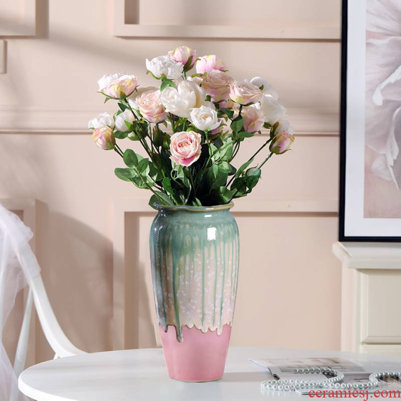 To run small pure and fresh and ceramic vase hydroponic furnishing articles sitting room big Chinese northern wind dried flower arranging flowers water raise flowers
