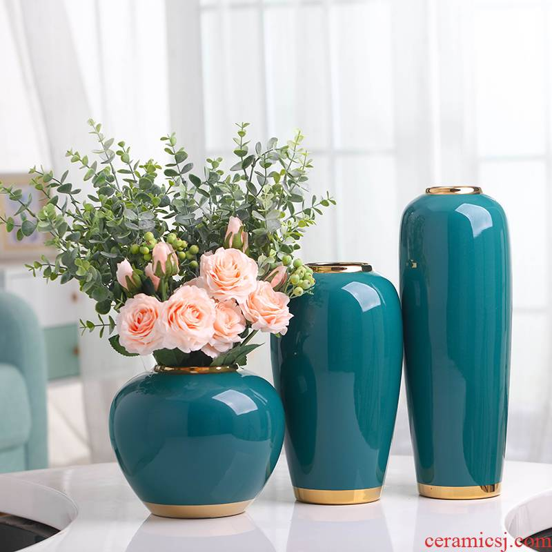 Nordic light much wind ceramic simulation flower vases, I and contracted sitting room table example room suit dry flower arranging furnishing articles