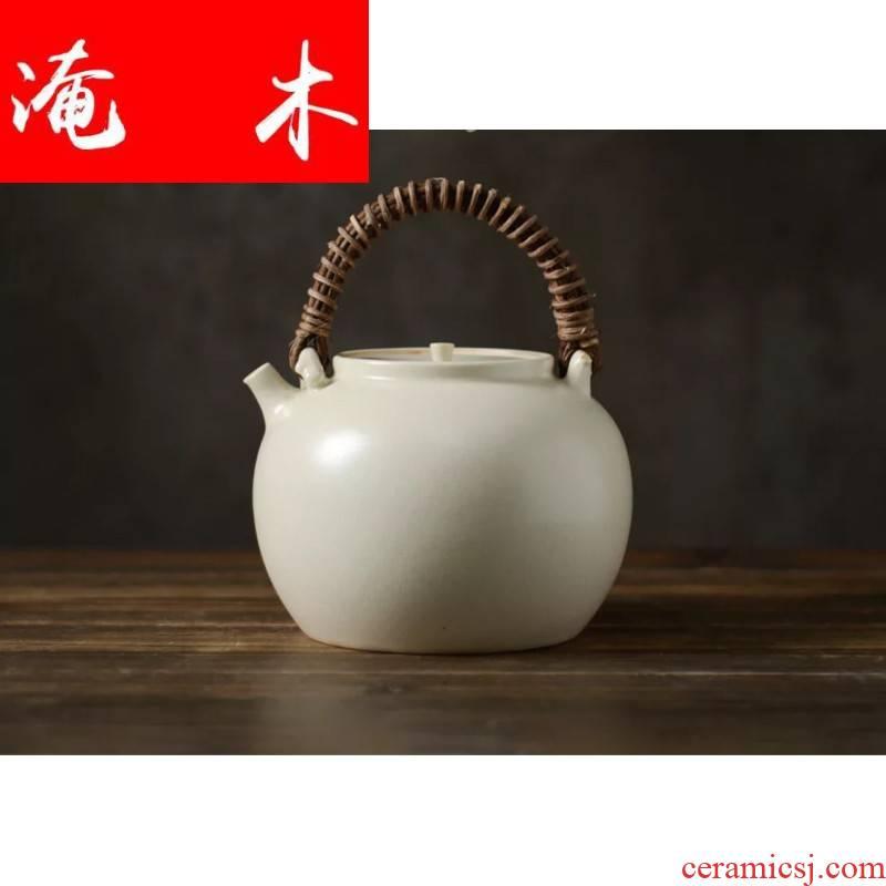 Submerged wood jingdezhen ceramic kung fu tea set simple electric cooking pot pot electricity TaoLu soda the plants