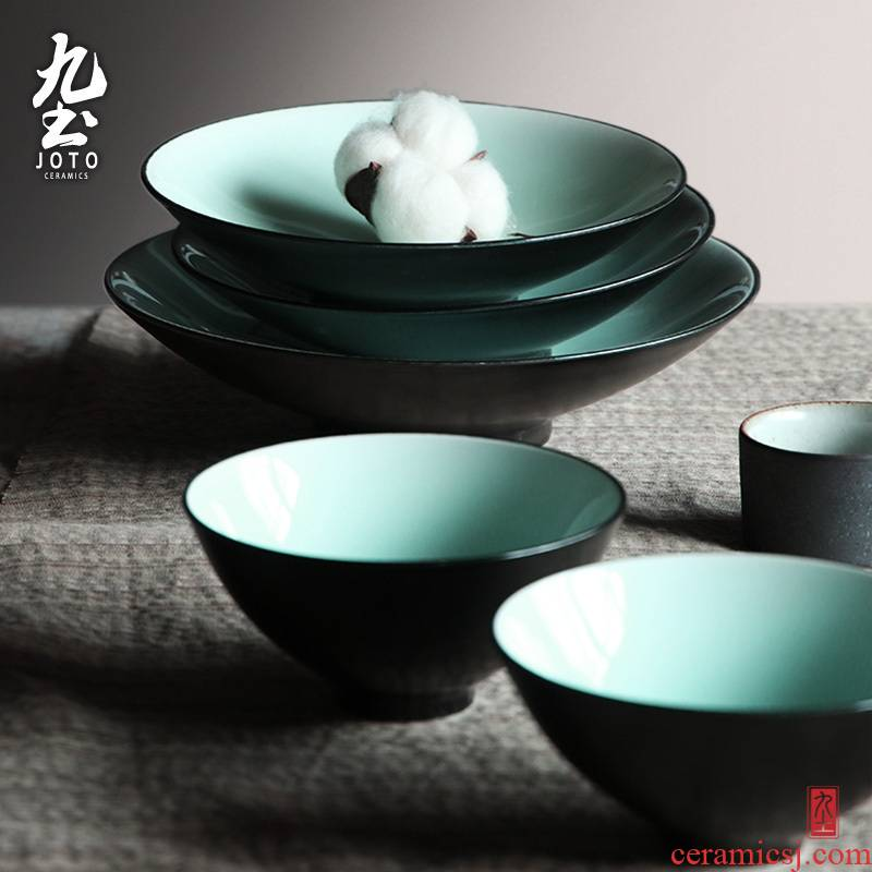 About Nine soil manual circle suit custom logo simple plate of jingdezhen ceramic household rice bowls plate type
