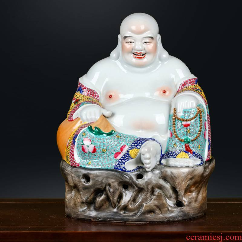 Jingdezhen ceramics of Buddha temple consecrate decorations for home gift lucky by ocean 's stone statues and furnishing articles