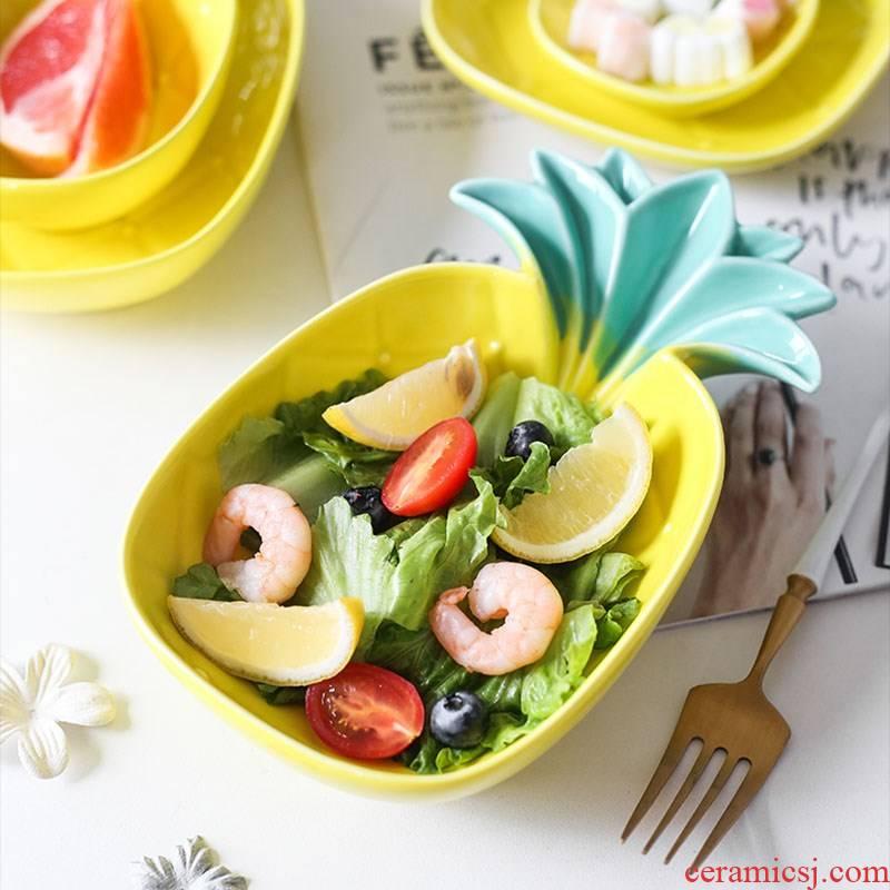Creative boutique hand - drawn cartoon dish plate ice cream sweet snacks snacks disc on ceramic plate plate