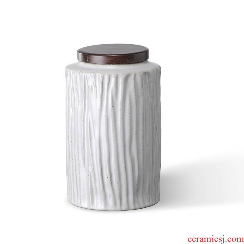 Ceramic seal storage warehouse storage tea pot archaize coarse pottery small tea pot lid ebony flowers inserted