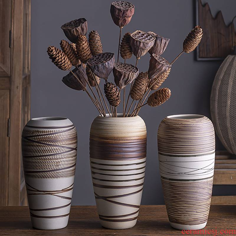 Nordic ceramic floret bottle household act the role ofing is tasted wine shelf decoration flower arranging dried flowers contracted sitting room adornment is placed