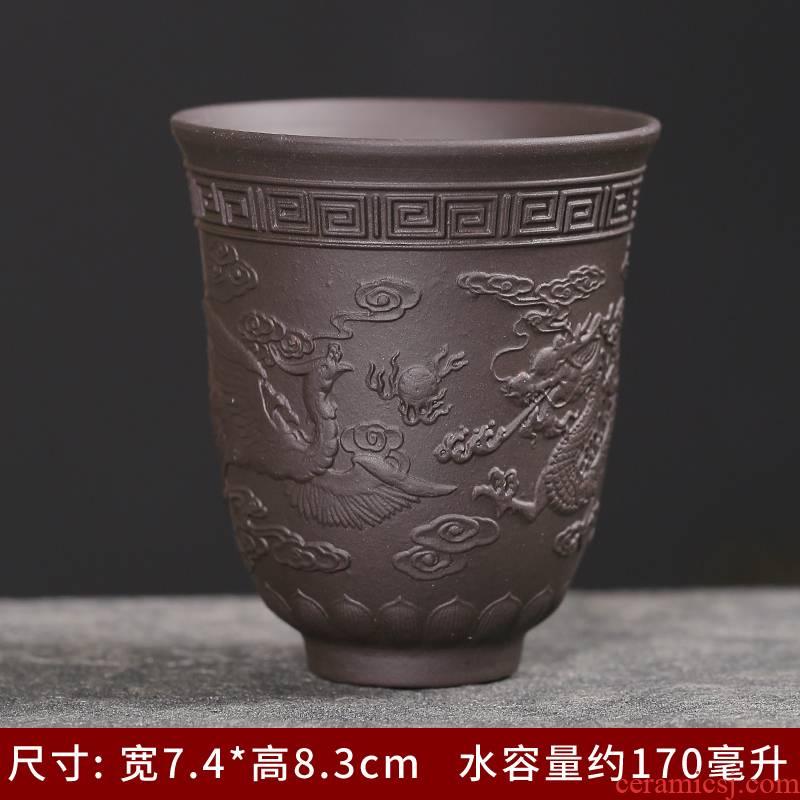 Purple sand tea ceramic cups, kung fu small cup master cup single cup light tea bowl sample tea cup suet jade
