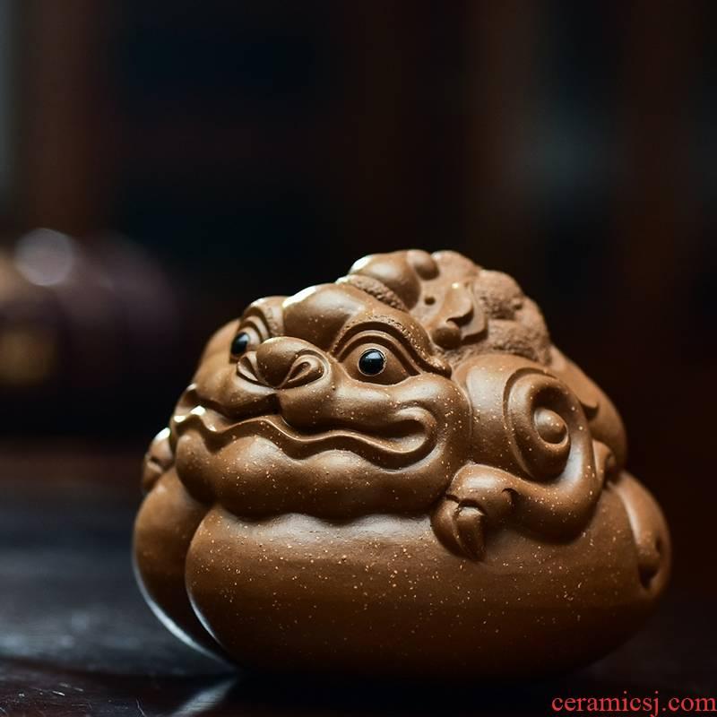 Qiao mu JS yixing purple sand pure pet furnishing articles manual its tea play overlord spittor Chu tea of a pet