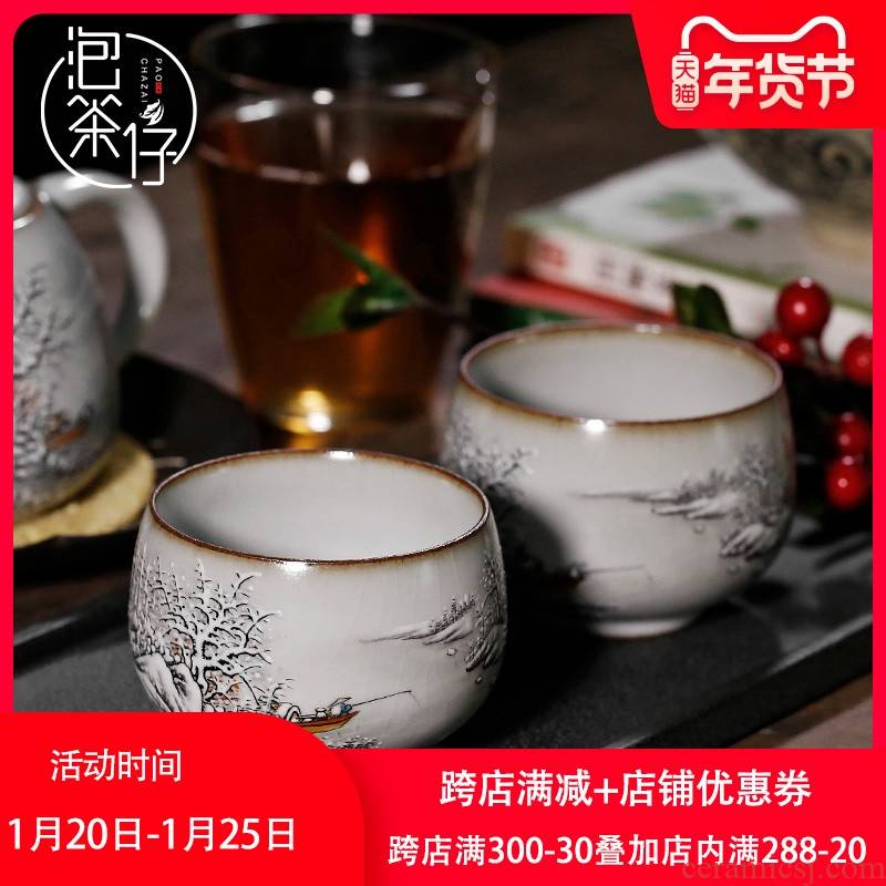 Jingdezhen your up pure hand - made ceramic masters cup on cups can keep sample tea cup your porcelain teacup individual cup