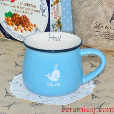Longed for ceramic cup with cover office coffee cup mark opportunely high - capacity ultimately responds milk cup creative lovely picking