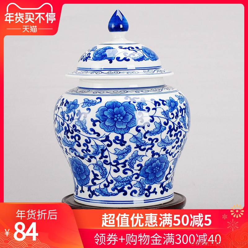 402 jingdezhen ceramic modern blue and white porcelain vase home furnishing articles sitting room adornment ornament arts and crafts