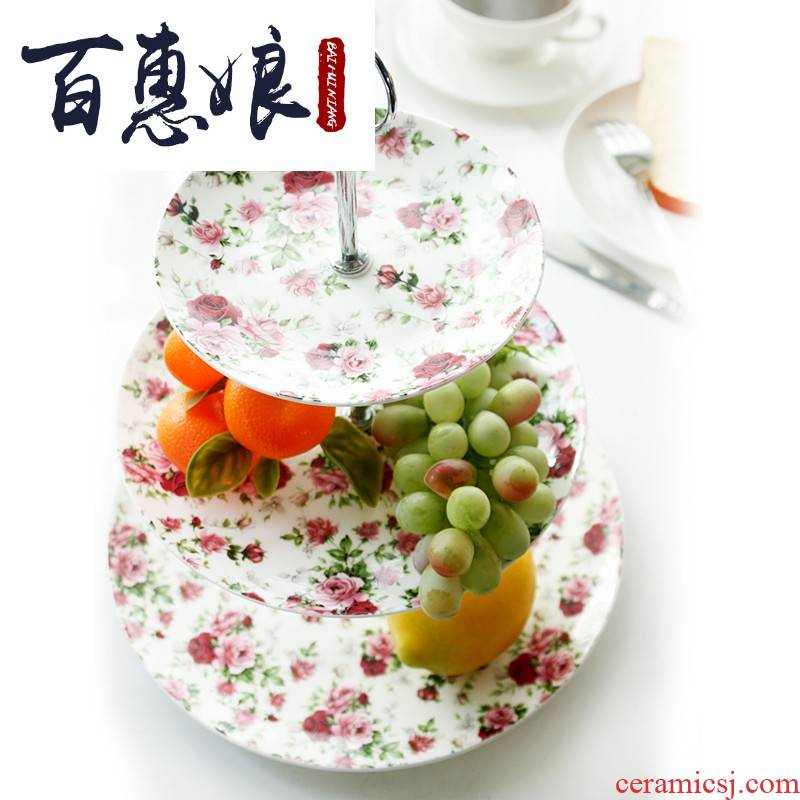 (niang afternoon tea fruit tray was creative European - style ipads porcelain ceramic tableware 'lads' Mags' including nuts all the plates