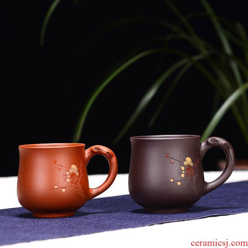 Yixing have the masters cup kung fu tea cups personal small manual point ribbon cup teapot tea violet arenaceous basin
