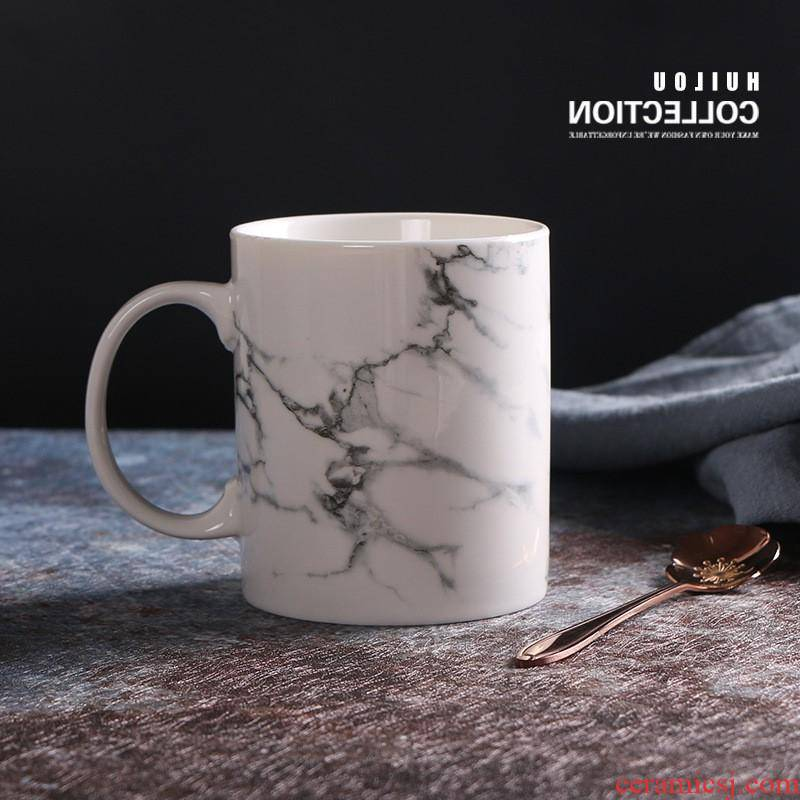 The creative stone mugs restaurant kitchen ceramic cup cup coffee cup milk cup couples custom manufacturers