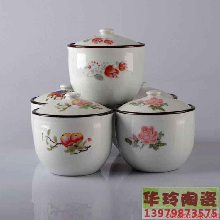 Scene for jingdezhen ceramic pot size seasoning food salt pot sugar bowls with cover storage tank cream