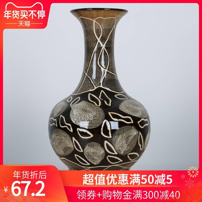 421 jingdezhen ceramic vase color crackle vase creative manual its porcelain home decoration furnishing articles