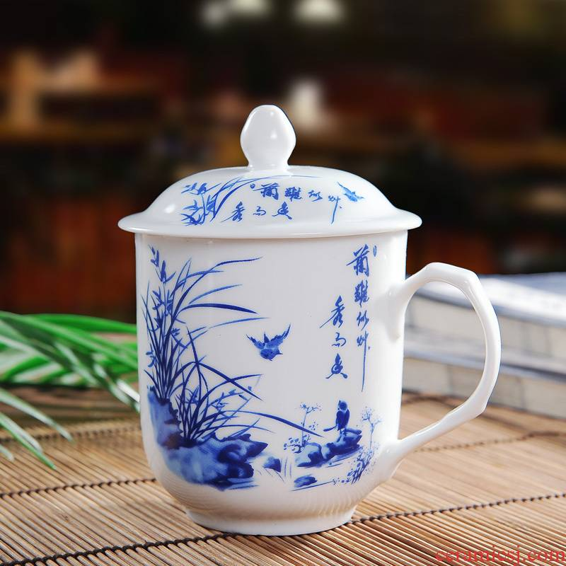 Jingdezhen ceramic cups office cup cup and cup with personal cup cup with a cover on it