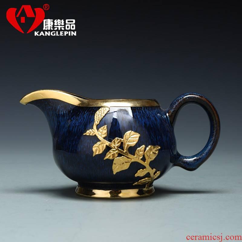 Recreational product an inset jades points fair keller of tea ware jingdezhen ceramic wire drawing kelp handle kung fu tea tea accessories