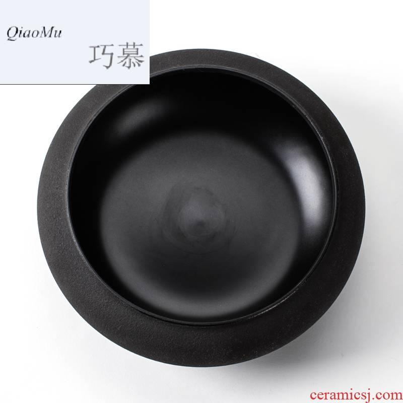 Qiao mu wen boiled tea exchanger with the ceramics teapot cooked pu - erh crude pottery 3 piece tea, kungfu tea set accessories