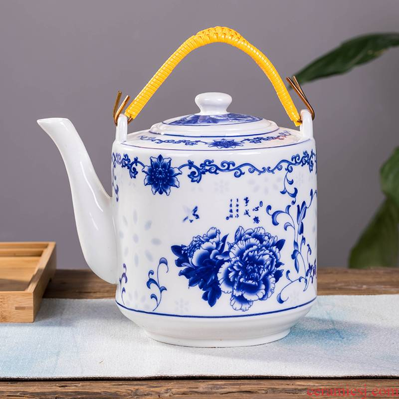 Cool bottle ceramic kettle large blue and white porcelain cold boiled water filter kettle pot pot of domestic large capacity of cold water
