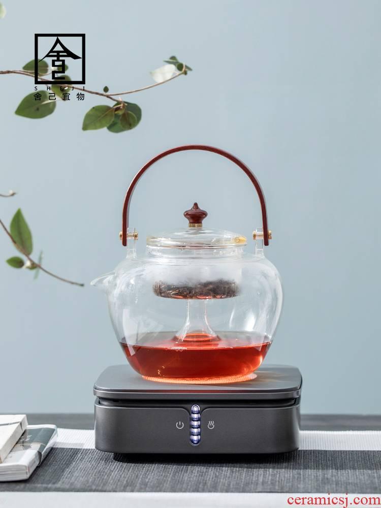 "The Self - ""appropriate cooked this teapot tea glass vessel household electric TaoLu steaming kettle boiling tea stove tea pu - erh tea, white tea"