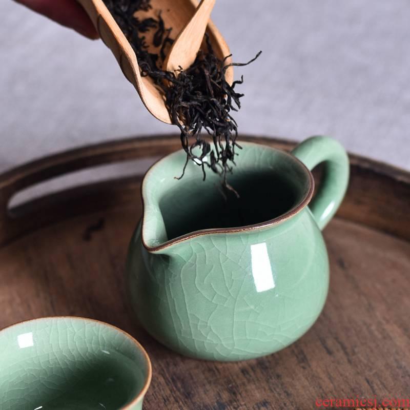 Ceramic fair keller) kung fu tea set reasonable large zero with a cup of tea cups