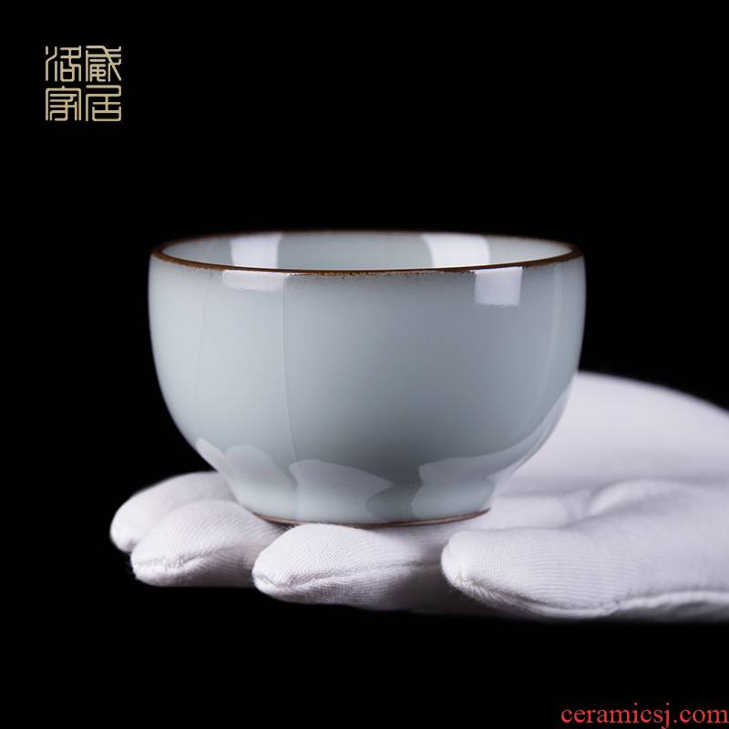 Guanyao cup of jingdezhen ceramic tea set, high - grade pure manual sample tea cup master kung fu tea cup single CPU