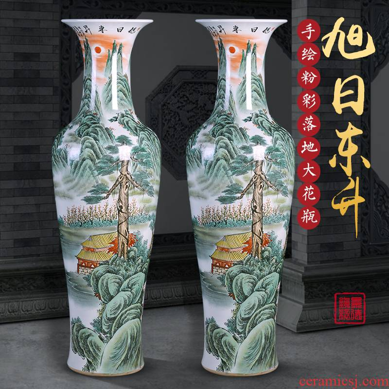 Jingdezhen chinaware big vase hand - made landing large heavy Chinese sitting room adornment opening gifts furnishing articles