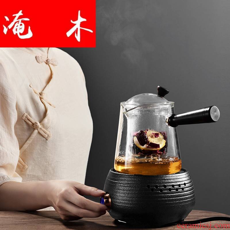 Submerged wood steam cooking pot kettle heat - resistant glass teapot tea set electric heating electric TaoLu household