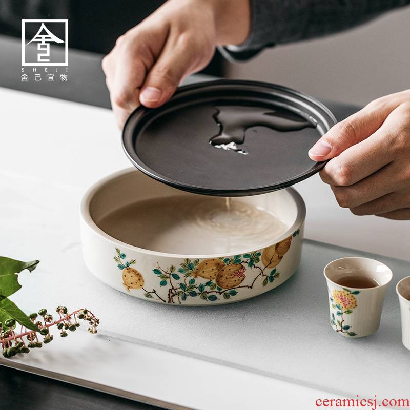 "The Self - ""appropriate content of jingdezhen hand - made pomegranate pot of bearing dry mercifully Taiwan zen Japanese water dry mercifully water tea restoring ancient ways"