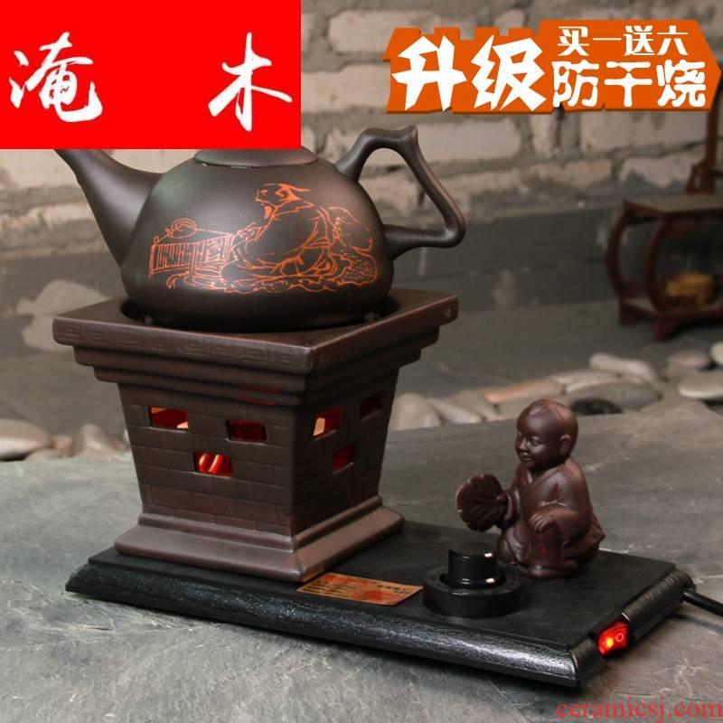 Flooded wooden hot tea tao ran furnace apparatus kettle archaize ceramic ceramic tea pot - electronic time burn boiled tea stove