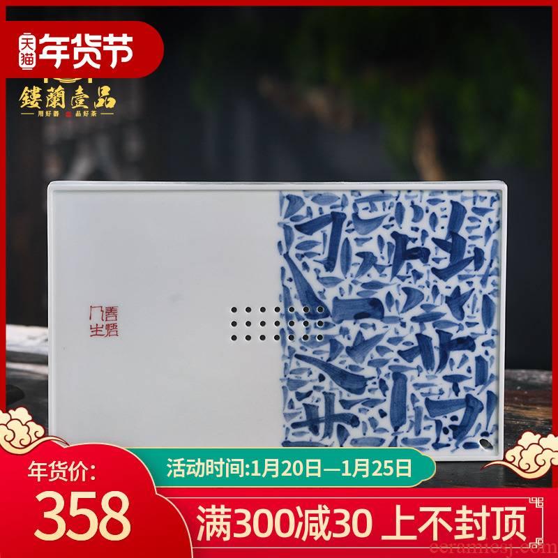 Jingdezhen ceramic bearing all hand - made porcelain pot of tea pet decorative porcelain plate furnishing articles kung fu tea cup tea tray