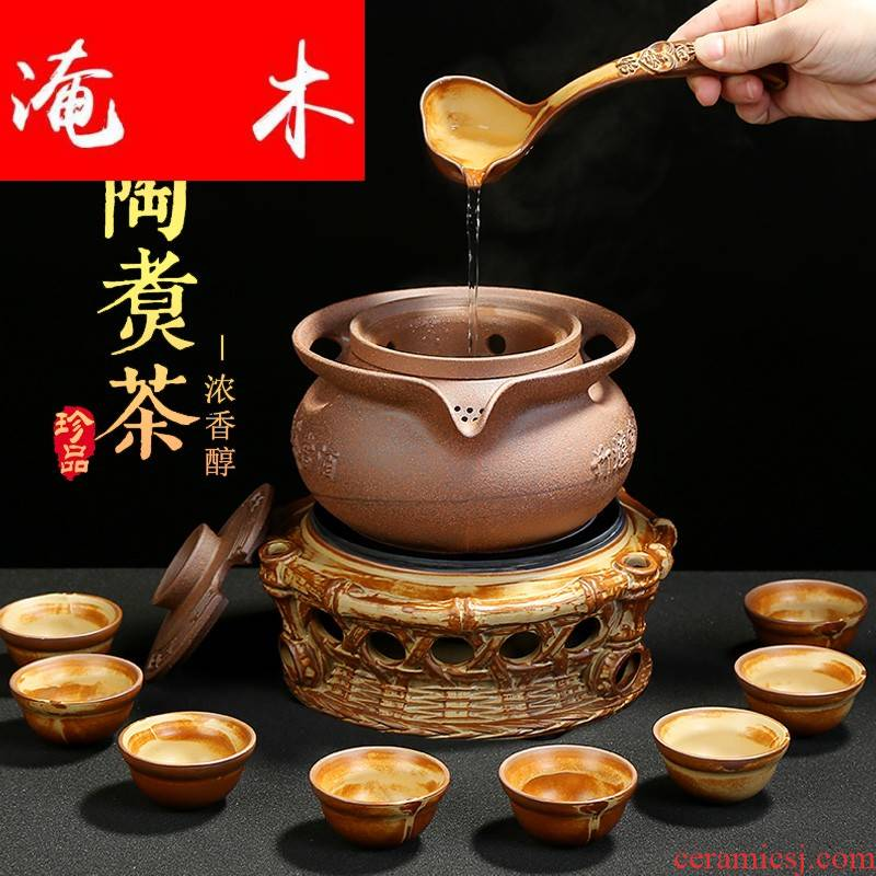 Submerged wood boiling tea ware ceramic company - thermal TaoLu tea stove temperature puer tea with a suit of household, black and white tea tea