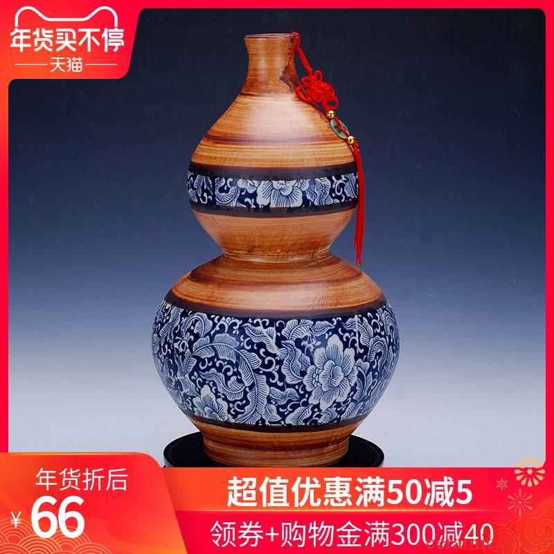 Blue and white antique vase 077 jingdezhen ceramic vases, large ceramic decoration home furnishing articles