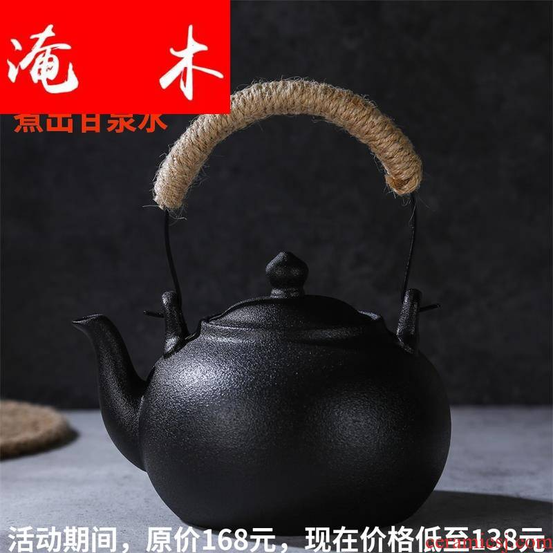Submerged wood product warbler song lava rock - boiling tea health pot of ceramic tea tea boiled water jug kung fu tea to burn