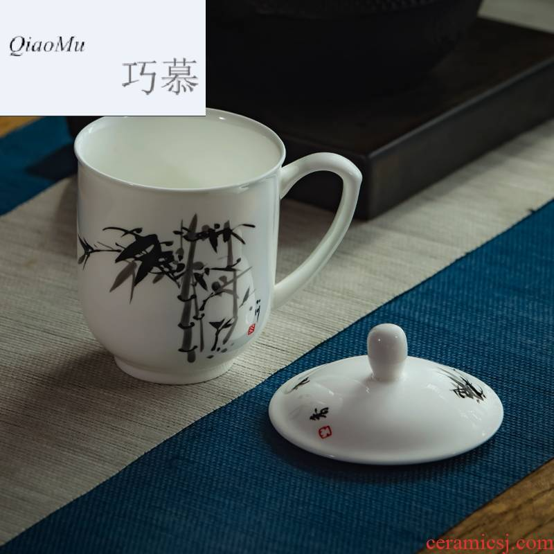 Qiao mu jingdezhen ceramic cups with cover cup ipads porcelain cup 10 only office the meeting reception with tea