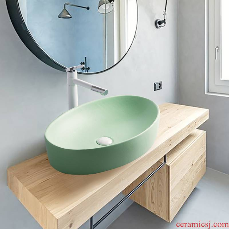 The Lavatory basin ceramic household stage basin to single basin Nordic birdbath simple toilet lavabo, the balcony