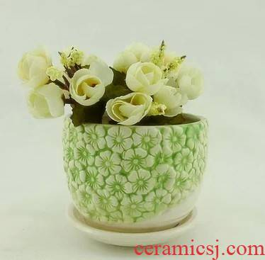 Ceramic POTS name plum flower beautiful classical cartoon field with tray basin of the new sample