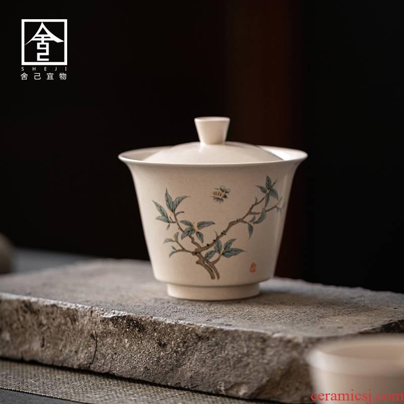 "The Self - ""appropriate content tureen single cup bowl restoring ancient ways of jingdezhen ceramic kung fu tea set is not hot tea"
