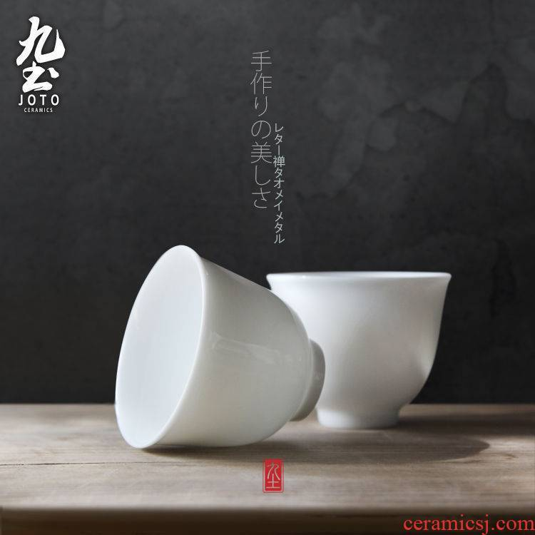 About Nine soil yulan sample tea cup white cups of jingdezhen ceramics craft kung fu tea tea accessories cup tea cups