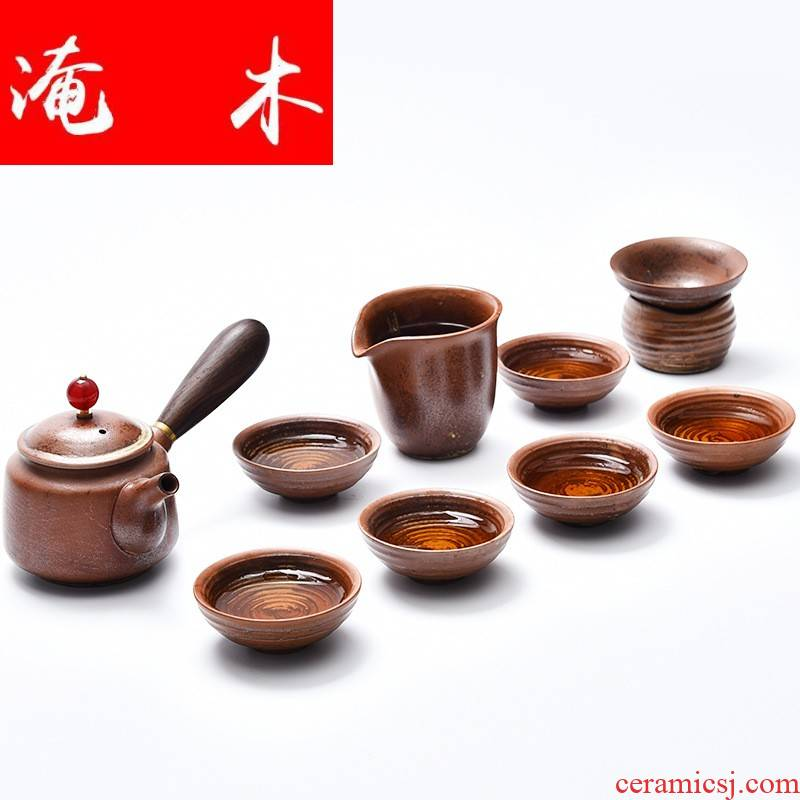 Classical flooded wood to burn the teapot kung fu tea set coarse some ceramic system restore ancient ways ceramic teapot teacup gift set