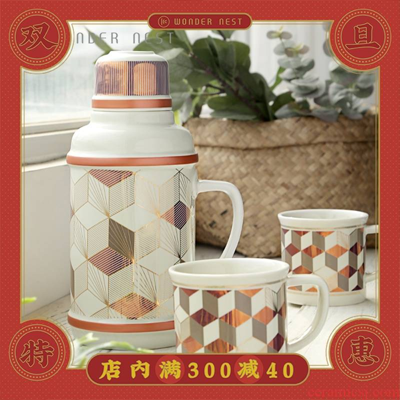 Old Shanghai retro ceramic kettle with cold water glass high - temperature explosion - proof household cold water mass to the fridge