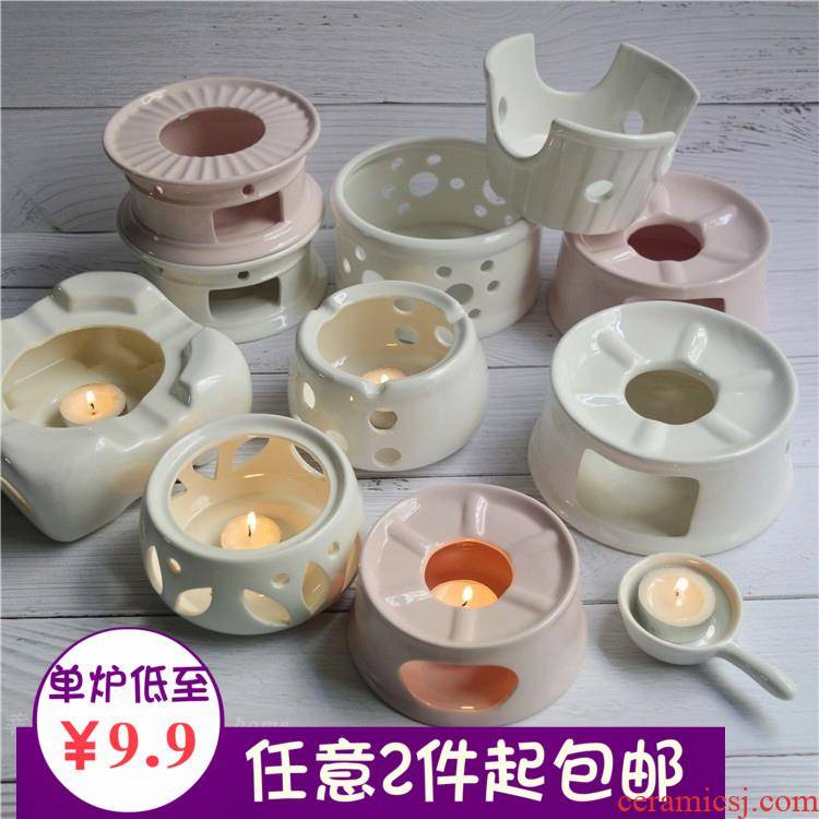 Hotel porcelain based warm tea stove heating furnace heat resistant base warm food Ming furnace insulation scented tea based base