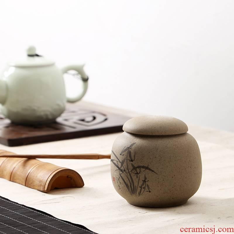 Hui shi coarse pottery caddy fixings ceramic POTS sealed as cans of pu 'er tea