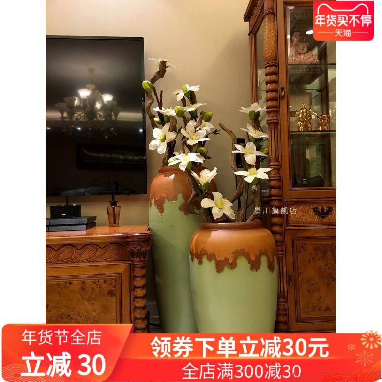 Jingdezhen of large modern European ceramics vase furnishing articles villa clubhouse hotel flower POTS combination living room