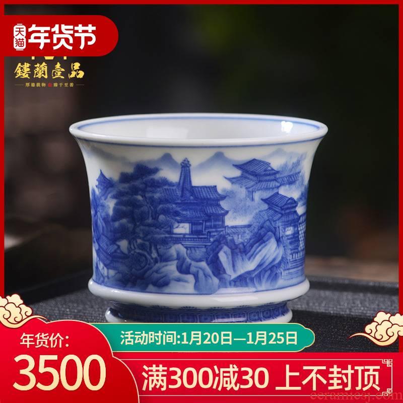 All hand - made porcelain of jingdezhen ceramics pavilions master cup kunfu tea, tea cup of individual single cup cup