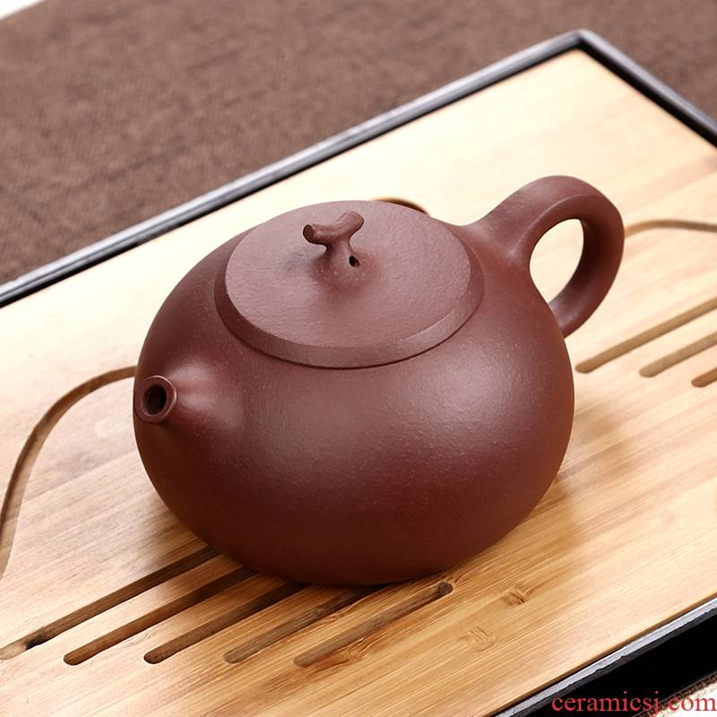Yixing tea boy undressed ore old purple clay it dahongpao pure checking home little teapot archaize fruit pot