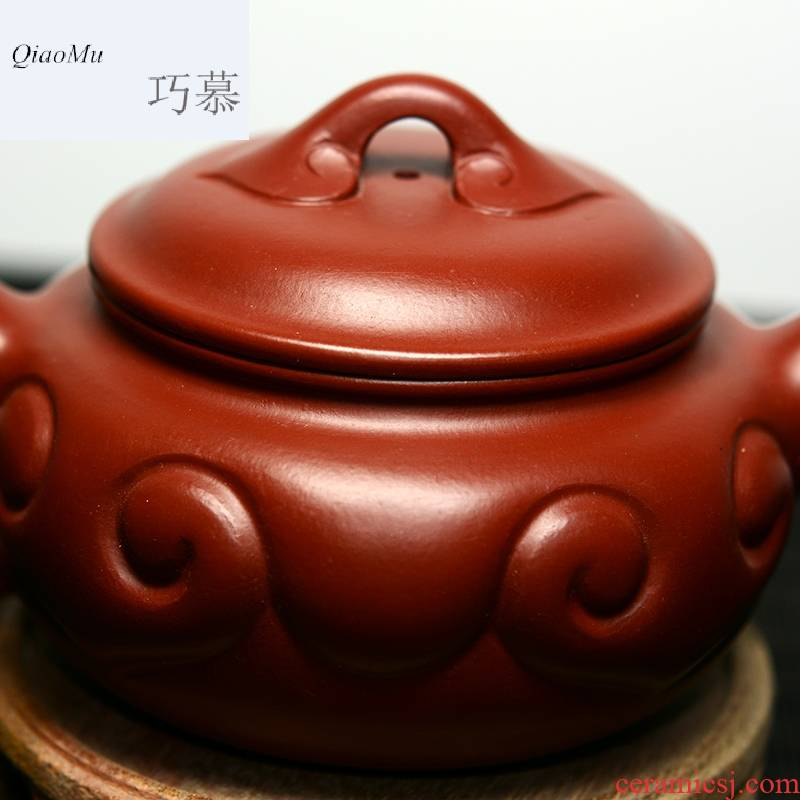Yixing it the teapot famous Xiong Hai only longed for QD manual opportunely undressed ore dahongpao archaize ruyi tea set