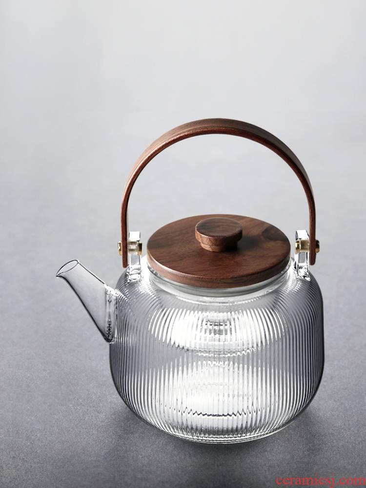 About Nine double girder bladder misspellings soil manual heat - resistant glass teapot burn hydropower TaoLu with Japanese cooking pot