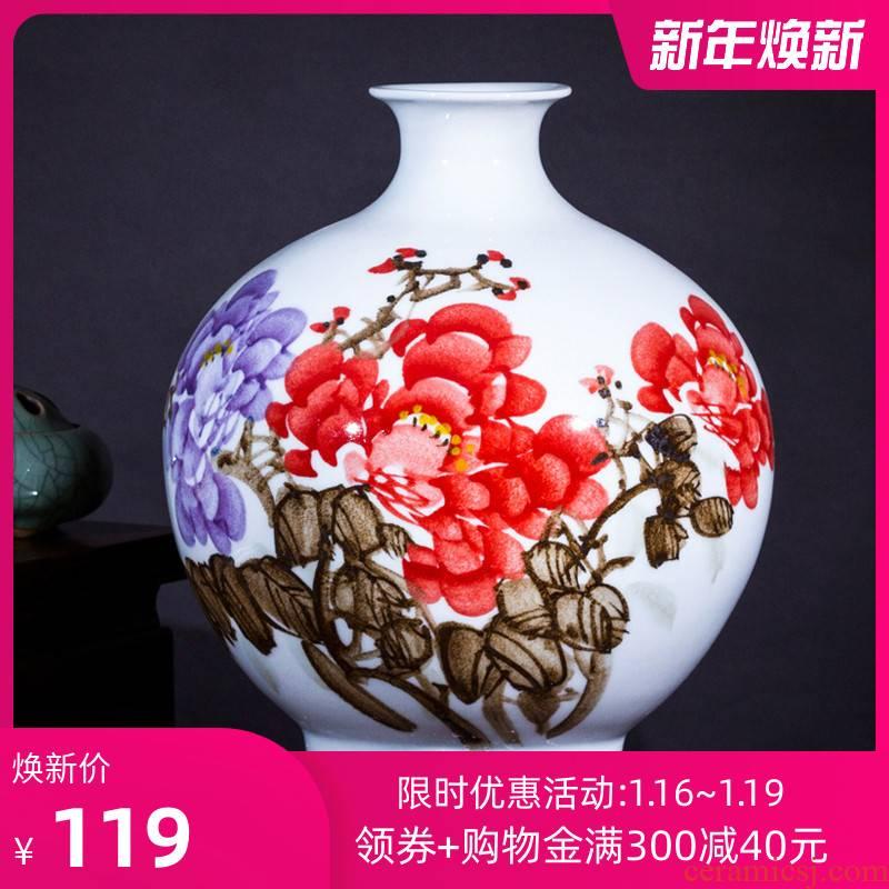 160 jingdezhen ceramic pastel blue and white porcelain vase hand - made bucket color lotus sitting room home handicraft furnishing articles