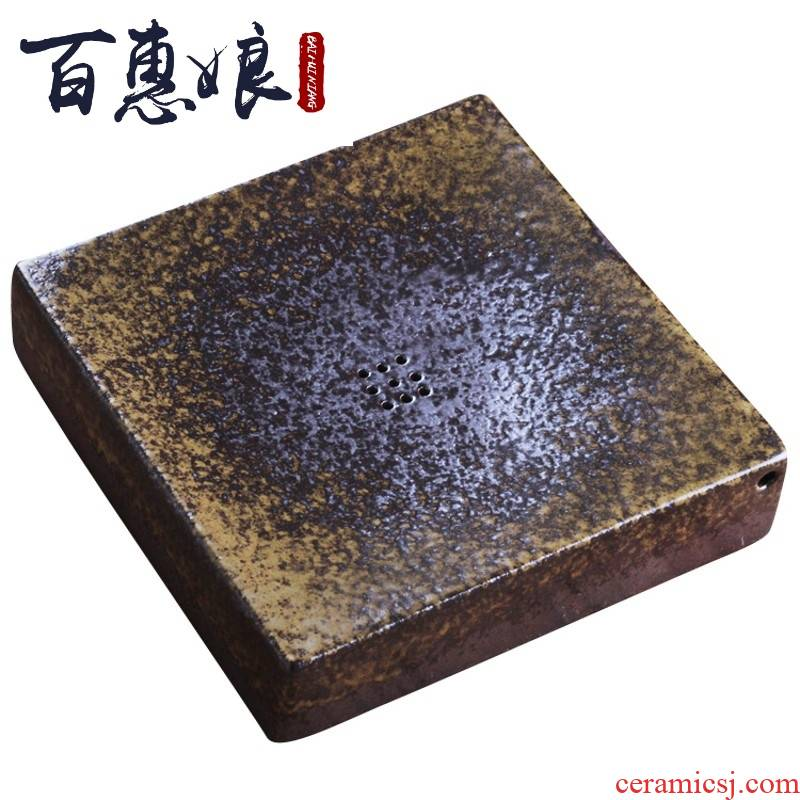 (niang coarse ceramic tea set dry ceramic tea tray manual water bearing tea pot pot foster pot pad tea party